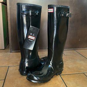 NEW Hunter Original Tall Gloss Rain Boots